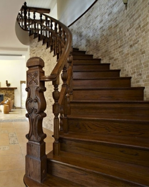 欧式阁楼实木楼梯